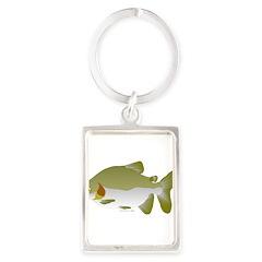 Pacu fish Portrait Keychain