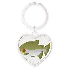 Pacu fish Heart Keychain