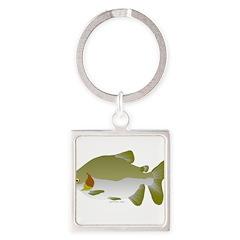 Pacu fish Square Keychain