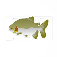 Pacu fish Aluminum License Plate