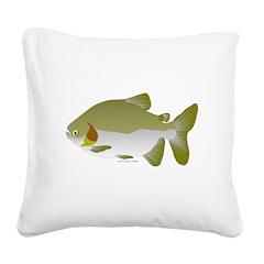 Pacu fish Square Canvas Pillow