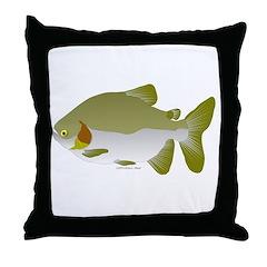 Pacu fish Throw Pillow