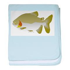 Pacu fish baby blanket