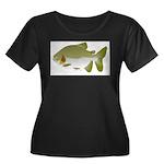 Pacu fish Women's Plus Size Scoop Neck Dark T-Shir