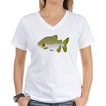 Pacu fish Women's V-Neck T-Shirt