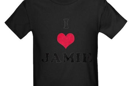 I Love Jamie Kids Dark T Shirt