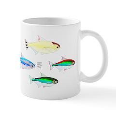 Four Tetras (Amazon River tropical fish) Mug