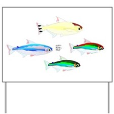 Four Tetras (Amazon River tropical fish) Yard Sign