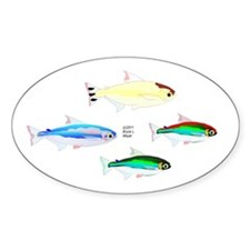 Four Tetras (Amazon River tropical fish) Sticker (