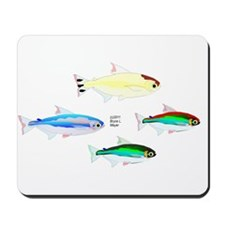 Four Tetras (Amazon River tropical fish) Mousepad