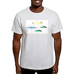 Four Tetras (Amazon River tropical fish) Light T-S