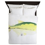 Elongate Hatchetfish Amazon River fish Queen Duvet