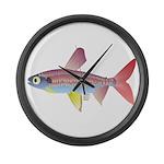 Watermelon fish (Amazon River) Large Wall Clock