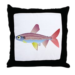 Watermelon fish (Amazon River) Throw Pillow