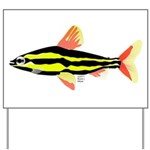 Striped Headstander fish Amazon tropical Yard Sign