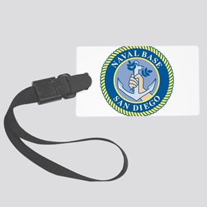 Naval Base San Diego Large Luggage Tag