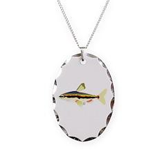 Golden Pencilfish tropical fish Amazon Necklace