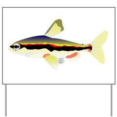 Golden Pencilfish tropical fish Amazon Yard Sign