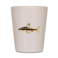 Golden Pencilfish tropical fish Amazon Shot Glass