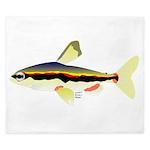 Golden Pencilfish tropical fish Amazon King Duvet