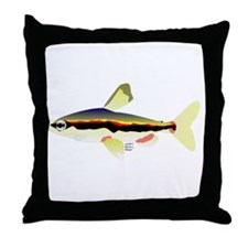 Golden Pencilfish tropical fish Amazon Throw Pillo