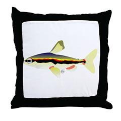 Golden Pencilfish tropical fish Amazon Throw Pillo