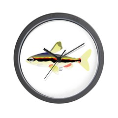 Golden Pencilfish tropical fish Amazon Wall Clock