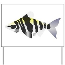 Highbacked Headstander tropical fish Yard Sign