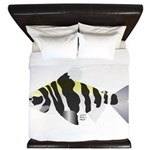 Highbacked Headstander tropical fish King Duvet
