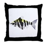 Highbacked Headstander tropical fish Throw Pillow