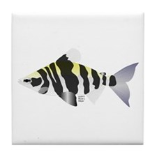 Highbacked Headstander tropical fish Tile Coaster
