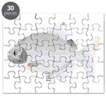 SIlver Dollar fish tropical Amazon river Puzzle