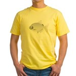 SIlver Dollar fish tropical Amazon river Yellow T-