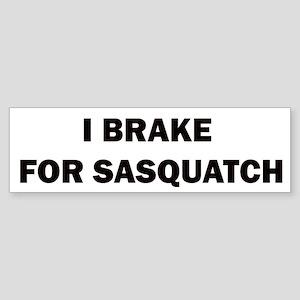 sasquatch black Sticker (Bumper)