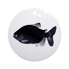 Black Pacu fish tropical Amazon Ornament (Round)