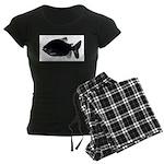 Black Pacu fish tropical Amazon Women's Dark Pajam
