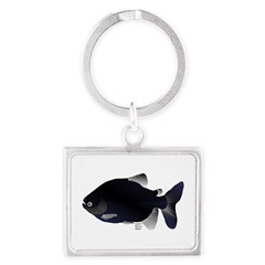 Black Pacu fish tropical Amazon Landscape Keychain