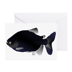 Black Pacu fish tropical Amazon Greeting Card