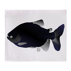Black Pacu fish tropical Amazon Throw Blanket