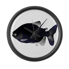 Black Pacu fish tropical Amazon Large Wall Clock