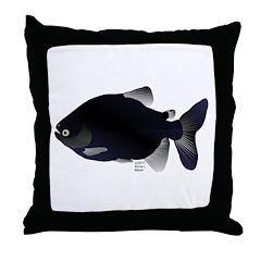 Black Pacu fish tropical Amazon Throw Pillow