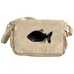 Black Pacu fish tropical Amazon Messenger Bag
