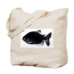 Black Pacu fish tropical Amazon Tote Bag