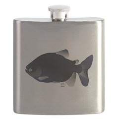 Black Pacu fish tropical Amazon Flask