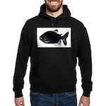 Black Pacu fish tropical Amazon Hoodie (dark)