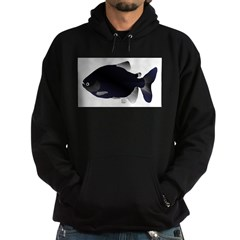 Black Pacu fish tropical Amazon Hoodie (dark)