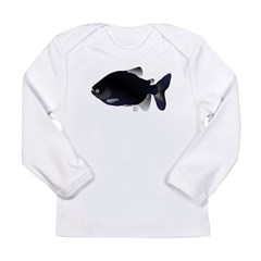 Black Pacu fish tropical Amazon Long Sleeve Infant