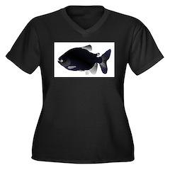 Black Pacu fish tropical Amazon Women's Plus Size