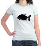 Black Pacu fish tropical Amazon Jr. Ringer T-Shirt