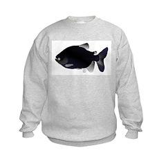 Black Pacu fish tropical Amazon Sweatshirt